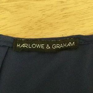 Harlowe & Graham Tops - Watercolor cap sleeve top